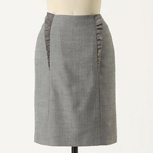 ANTHROPOLOGIE Girls from Savoy gray pencil skirt 2